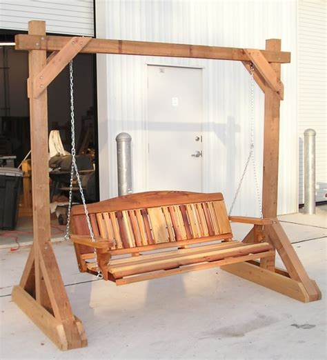 how to make a swing stand outdoor swing stand plans image mag