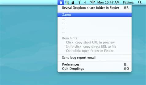 dropbox short link droplings upload files to dropbox public folder from mac