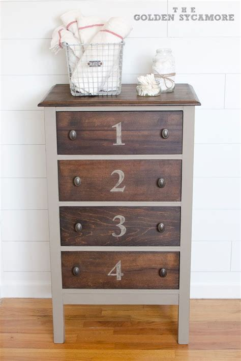 Two Tone Painted Dresser by Two Toned Dresser Stained And Painted Fab U Lous