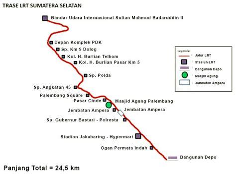 ini peta rute lrt palembang kemajuan transportasi palembang tanah palembang