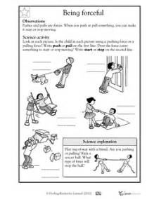 here s a handout for k 1 on forces forces and motion