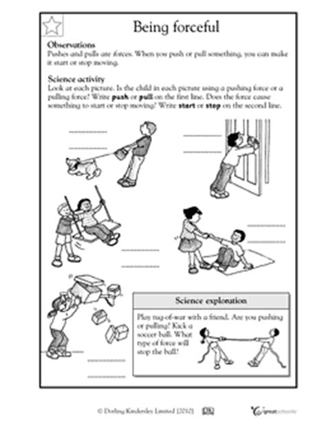 Forces And Motions Worksheets by Here S A Handout For K 1 On Forces Forces And Motion