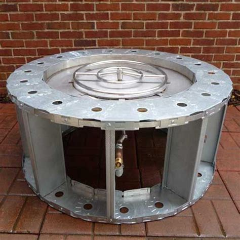 Gaslight Firepit 48 Quot Steel Frame Pit Pit