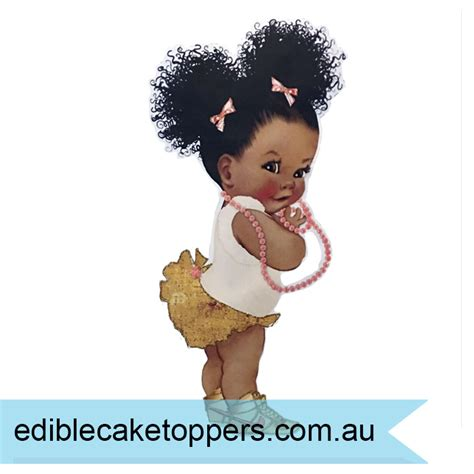 Afro Puff Baby Template precut icing shapes archives edible cake toppers