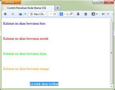 tutorial css php tutorial belajar css penulisan kode warna pada css