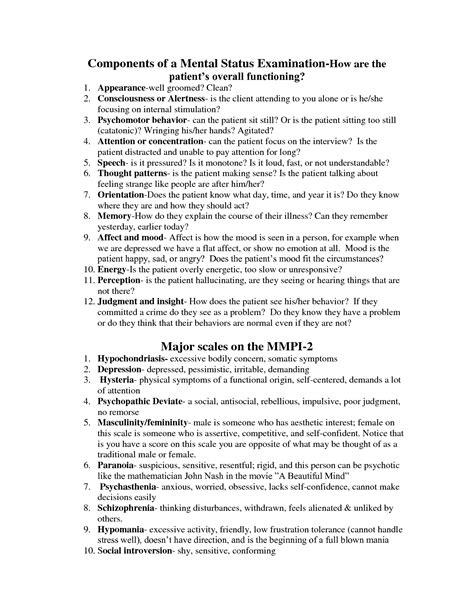mental status exam template mental status exam checklist online calendar templates