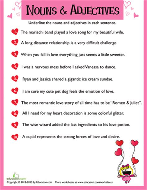 valentines reading comprehension worksheet s day reading and writing worksheets education
