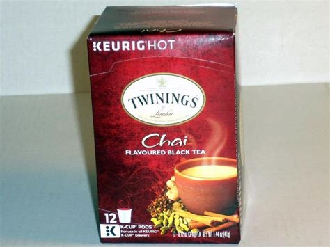 Keurig Detox Tea by New Sealed Keurig Twinings Chai Flavoured Black Tea 12