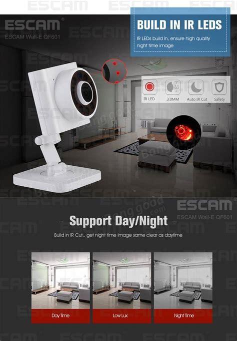 Oto Escam Wall E Qf601 Wireless Ip Cctv 1 4 Inch Cmos 720p escam wall e qf601 wireless ip cctv 1 4 inch cmos