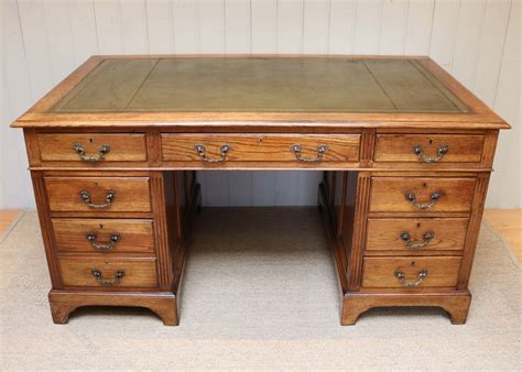 large antique oak desk large oak pedestal desk antiques atlas