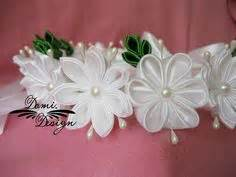tutorial buket bunga satin how to diy satin ribbon rose flower hairclip tutorial and