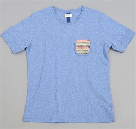 knitting t shirts knit pocket t shirt recycled blue hickoree s