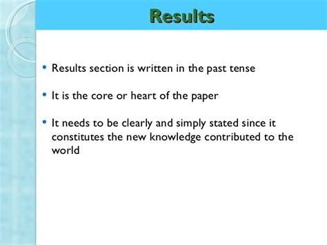 how to write results section how to write a best research paper