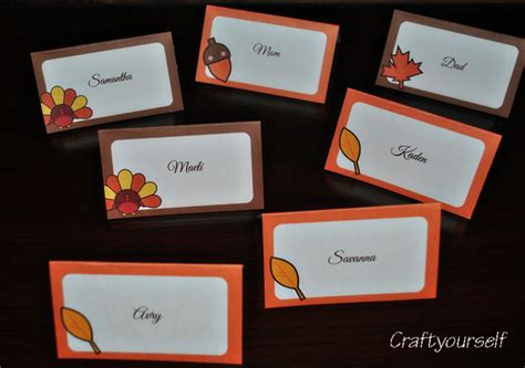 printable thanksgiving name card ideas thanksgiving preparations and printables craft