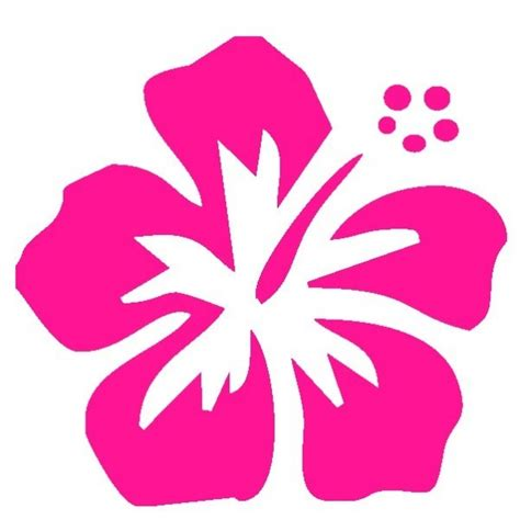 fiori hawaiani fiore hawaii adesivo prespaziato adesivistore