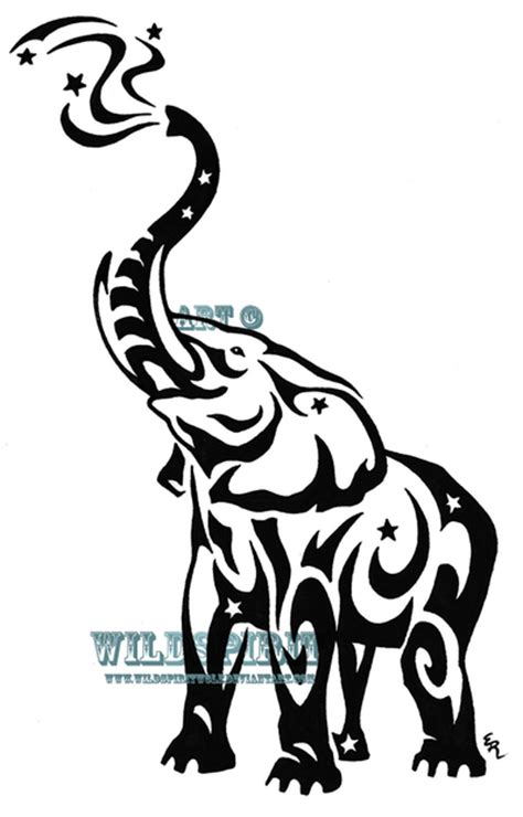 elephant tribal tattoo design tribal tattoos design starry tribal elephant