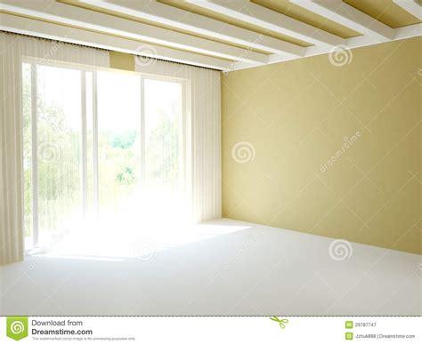 Travi Bianche Decapate stanza con la porta balcone immagine stock immagine