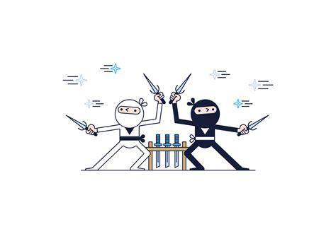 vector ninja tutorial free ninjas vector download free vector art stock