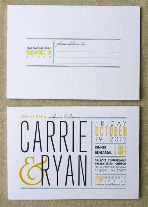 modern wedding invitation printable printable invitation rehearsal dinner postcard invitation