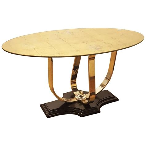 glass center table gilt glass center table chrome base for sale at 1stdibs