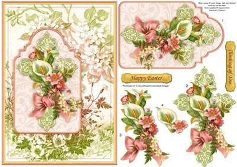 How To Make Decoupage Cards - easter or sympathy floral cross card topper decoupage on