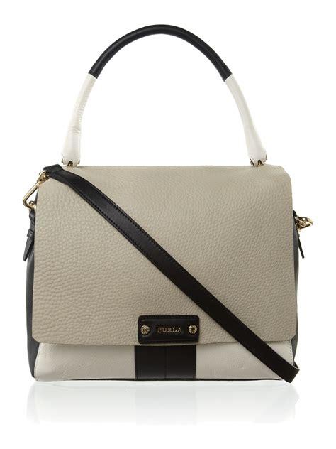 Furla Webing Luxury Turnlock 9070 furla rapallo bauletto satchel bag in lyst