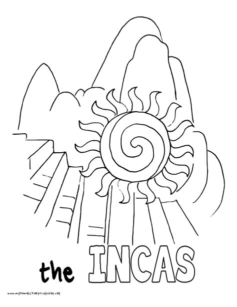 Inca Coloring Pages free coloring pages of aztec inca