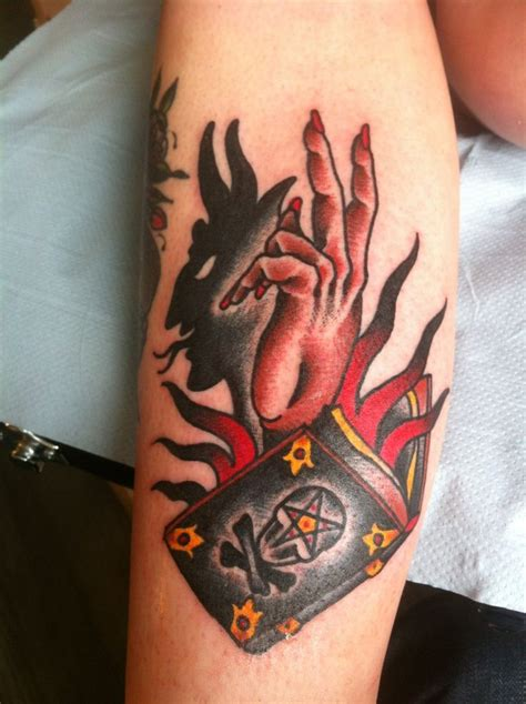 shadow tattoos shadow satan design with pagan symbol