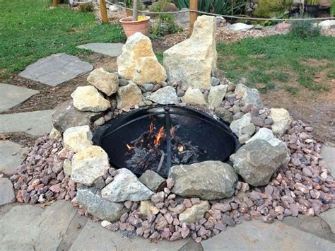 fire pit steel liner fire pit design ideas