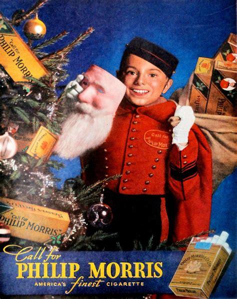 weird vintage tobacco christmas ads barnorama