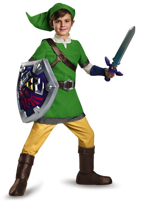 halloween costumes deluxe child link costume