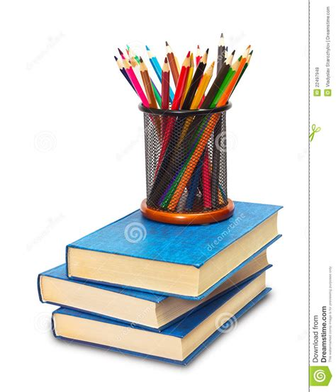 pictures of books and pencils books and pencils royalty free stock photos image 22497948