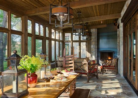 ranch home decorating ideas ranch manor rustic sunroom calgary by mitchell brock