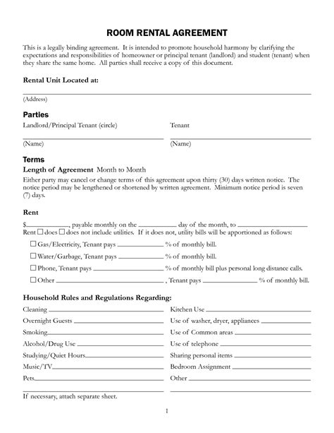 Legally Binding Agreement Template 6 best images of legally binding agreement template