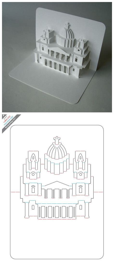 Free Template Of White House Pop Up Card 25 best ideas about kirigami on paper