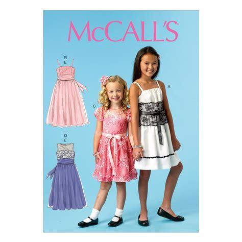 dress pattern joann fabrics children s girls dresses and sash 3 4 5 6 jo ann