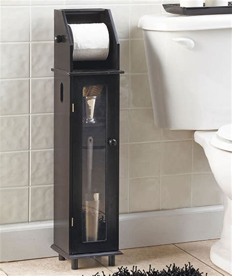 bathroom toilet paper cabinet black wooden furniture style bathroom toilet tissue roll