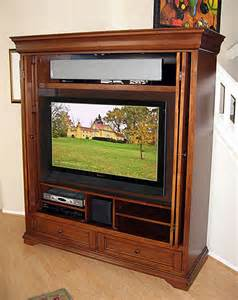 Tv Armoire Cabinet Tuscany Armoire Wall Unit Hide Your Flat Panel Tv Behind