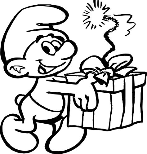coloring pages smurfs cartoon jokey smurf coloring page wecoloringpage