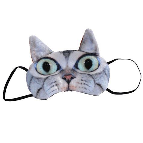pug eye patch soft 3d cat pug eye mask novelty travel sleepwear sleeping patch blindfold ebay