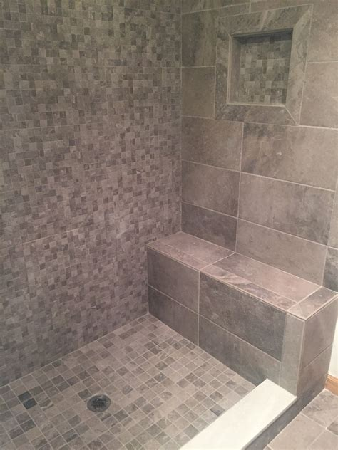 tile shower seat  tile shower soap box brushednickel