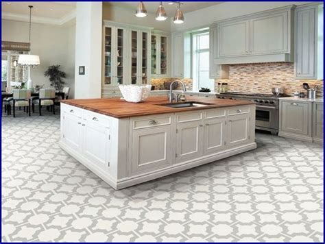 kitchen floor tile ideas with white cabinets interior