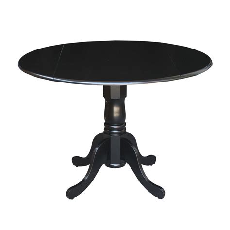 black drop leaf table international concepts black drop leaf dining table t46