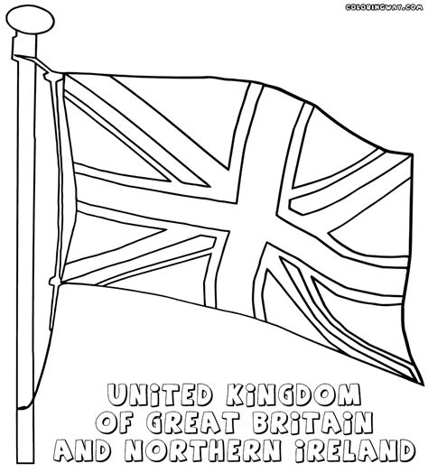 kids flag coloring pages printable england flag page