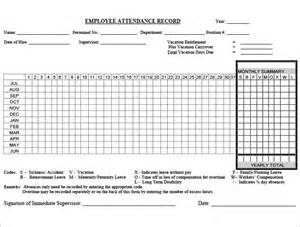 employee attendance record template doc 995489 employee attendance record template how to