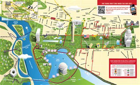 washington dc map landmarks walking map of washington dc monuments pictures to pin on