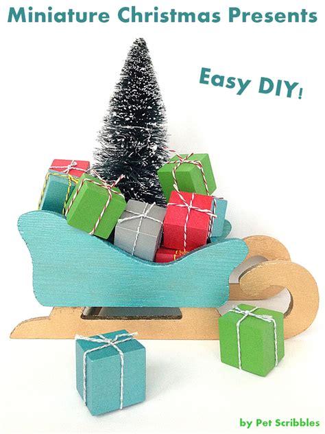 crafts presents craft miniature presents
