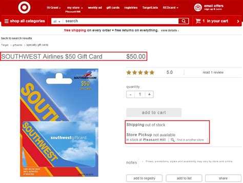 Gift Cards For Southwest Airlines - new amex offers hard rock cafe houlihan s orvis montblanc chime card 5 off