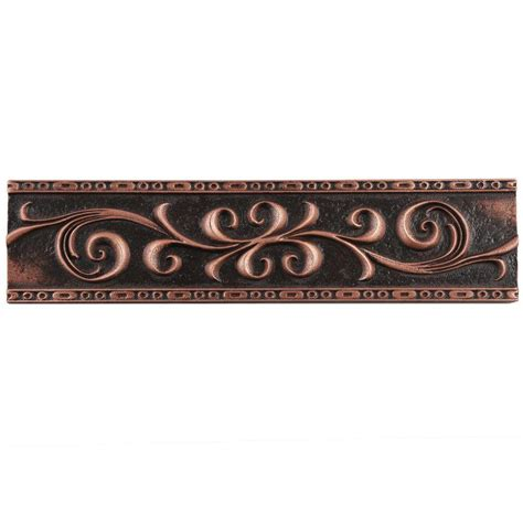 Kitchen Spice Organization Ideas merola tile contempo scroll liner venetian bronze 3 in x