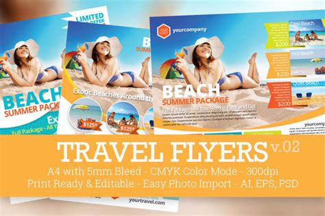 15 Travel Tourism Flyer Psd Templates Graphic Cloud Travel Brochure Maker Free